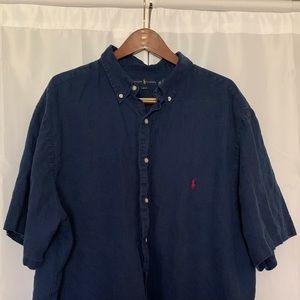 POLO RL Men's Big & Tall (3XB) Linen Shirt